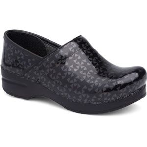 Dansko Clogs Grey Quilt Pattern Black 37